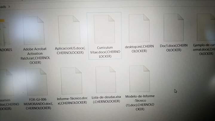 CHERNOLOCKER virus files