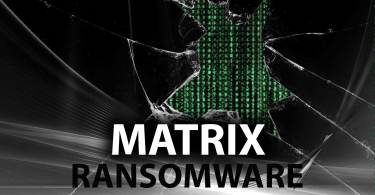 MATRIX ransomware encrypt the documents on the attacked PC and asks for the ransom to be paid by the victim supposedly to restore them.