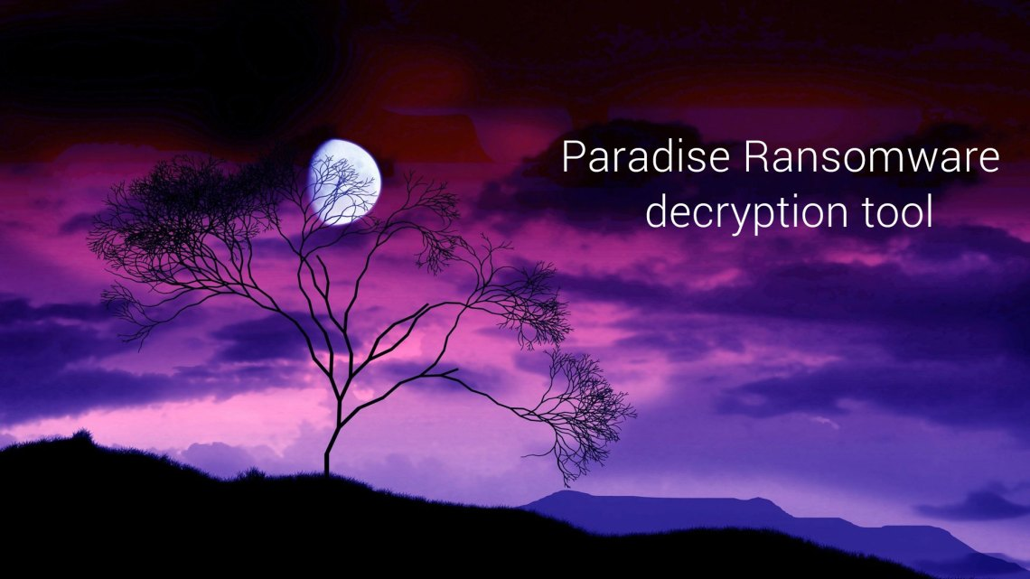 Paradise Ransomware decryption tool