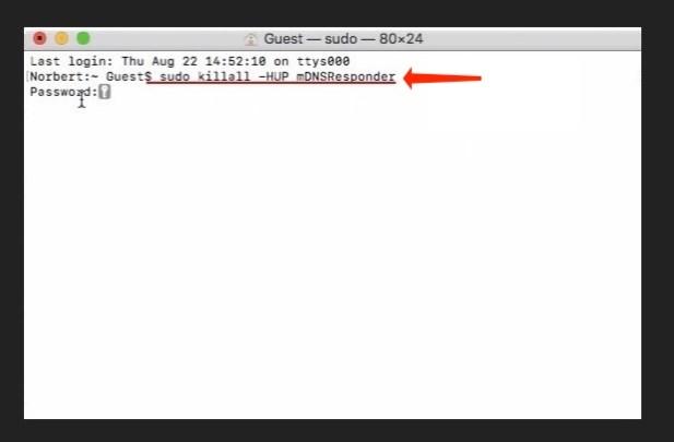 Flush DNS Cache - sudo killall -HUP mDNSResponder