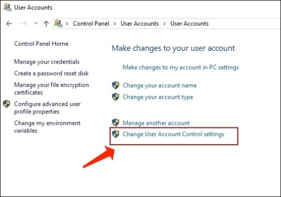 Change User Account Control Settings