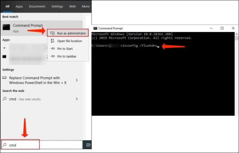 DNS Flush - ipconfig /flushdns