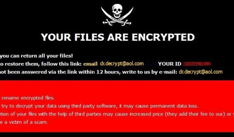 [dr.decrypt@aol.com].DR virus demanding message in a pop-up window
