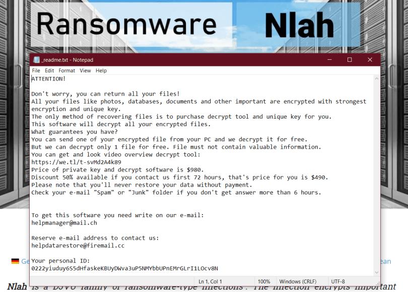 Nlah virus message