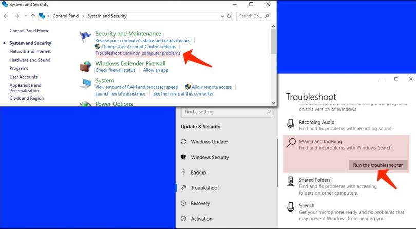 Search Not Working - Use Windows Troubleshooter