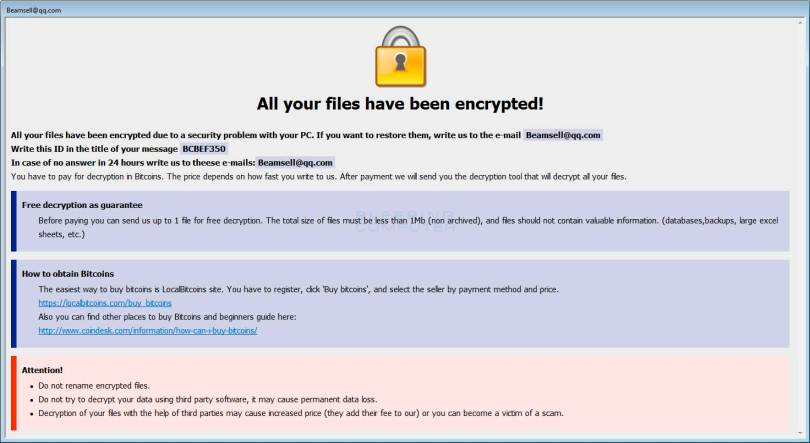 Dharma the most successful ransomware