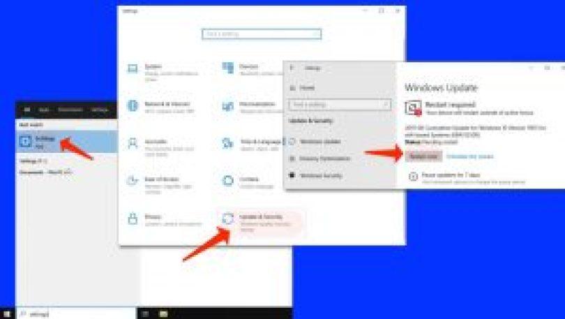 Fehler 0xc000007b - Installieren Sie Windows Update