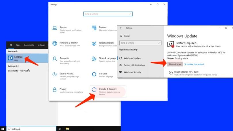 error 0xc000007b - Install Windows Update