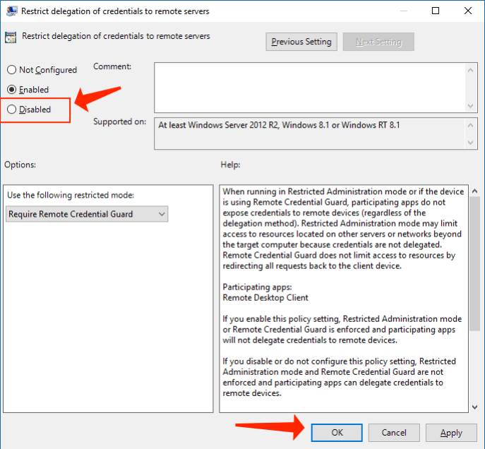 Deactivating Windows Group Policy