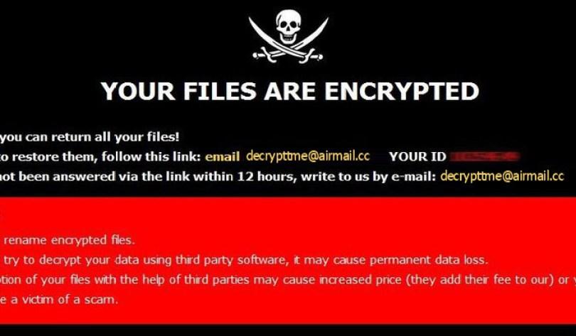 [decrypttme@airmail.cc].Dme virus demanding message in a pop-up window