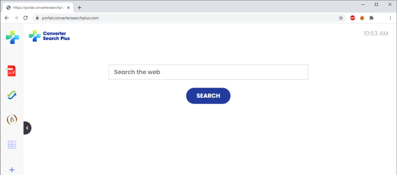 ConverterSearchPlus changed the start page of the browser