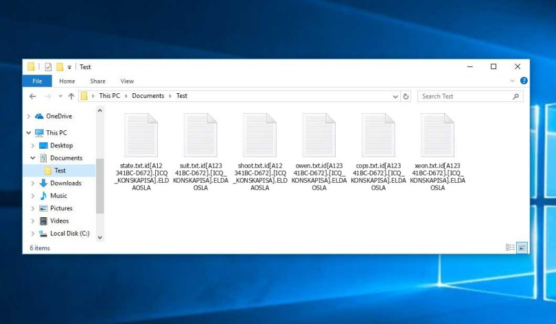 Eldaosla Virus - encrypted .id[XXXXXXXX-XXXX].[ICQ_KONSKAPISA].ELDAOSLA files