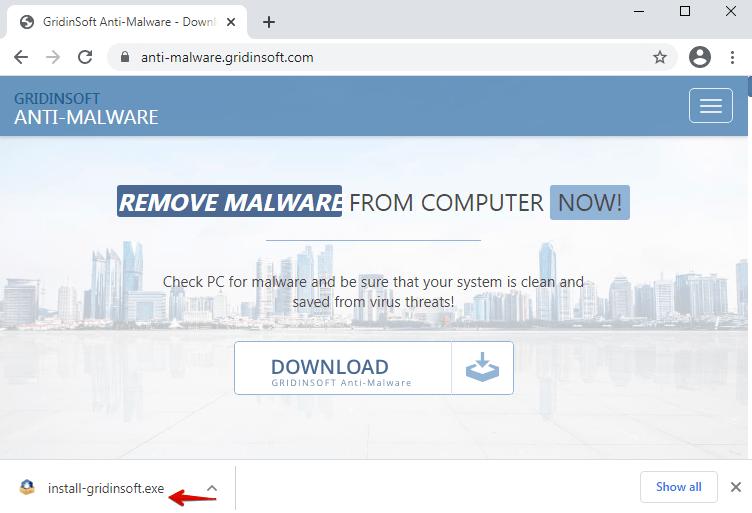 下載 GridinSoft 反惡意軟件