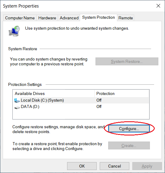 Enable the shadow volume copy creation