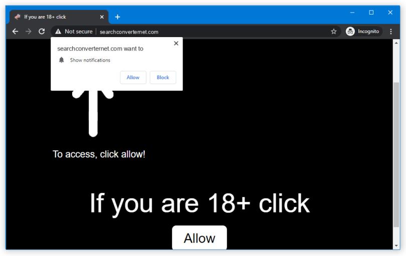 Searchconverternet.com push notification