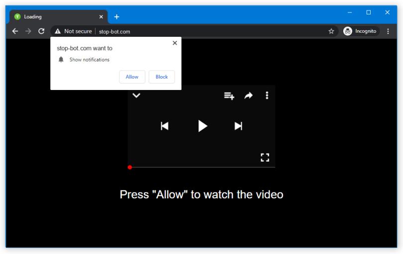 Stop-bot.com push notification