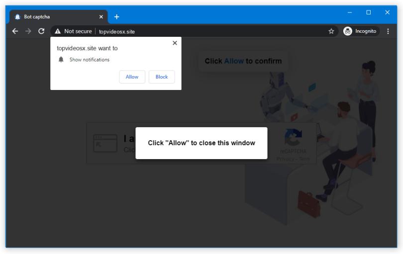 Topvideosx.site push notification
