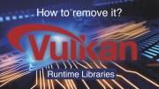 Vulkan-Laufzeitbibliotheken. Wie entferne ich es?