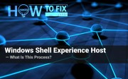 What is Windows Shell Experience Host?