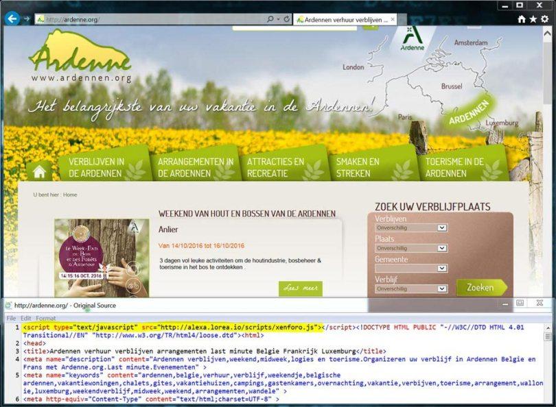 Compromised website