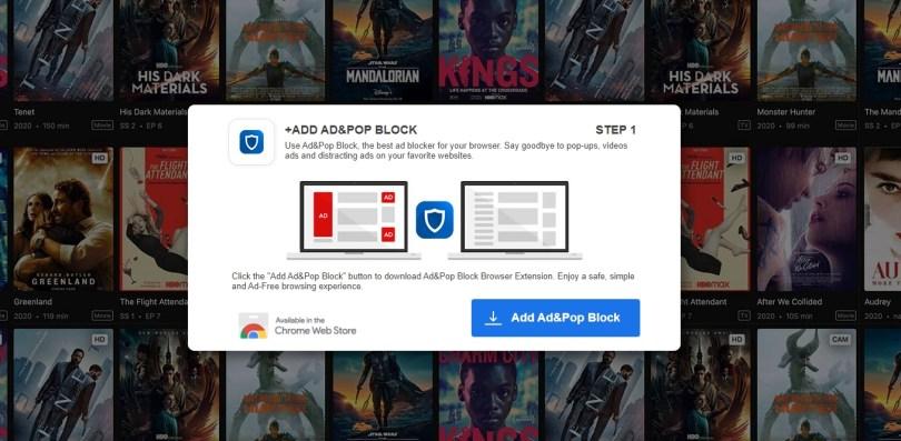 AD&POP BLOCK hijacker - 1stepdownload.com