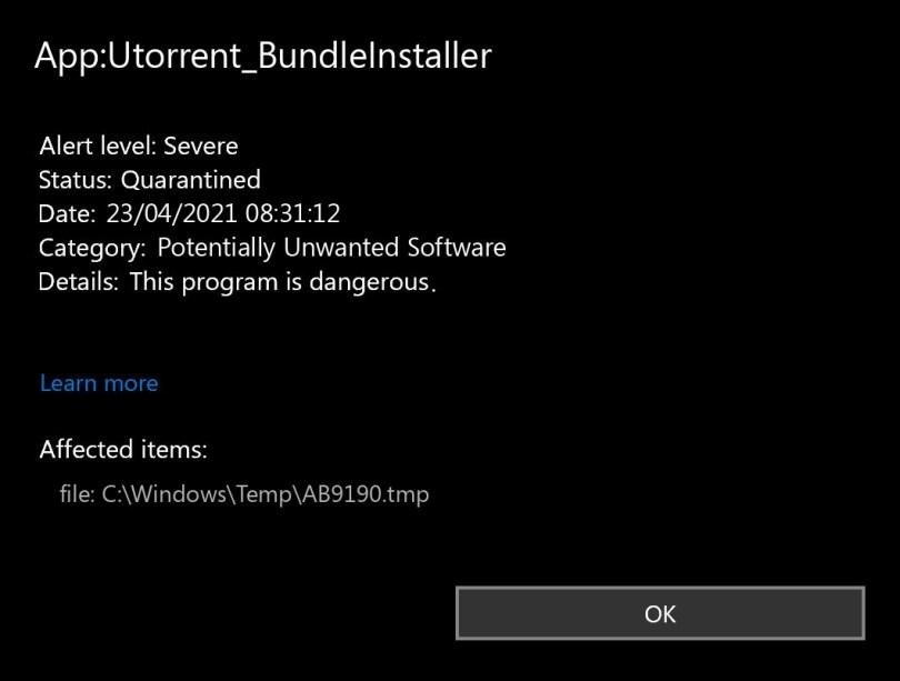 App:Utorrent_BundleInstaller found