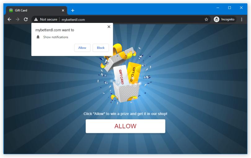 Mybetterdl.com push notification