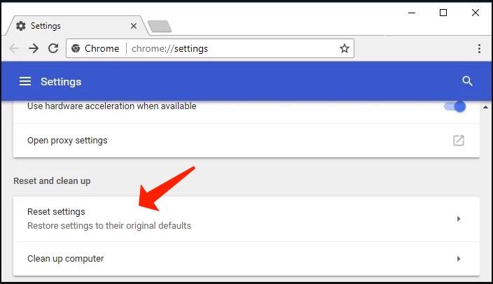 Chrome - Reset Settings To Their Original Defaults