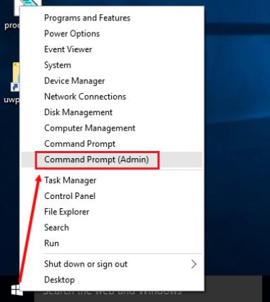 windows command prompt admin