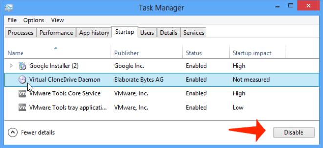 Update error 0x80244019 - disable startup programs in windows