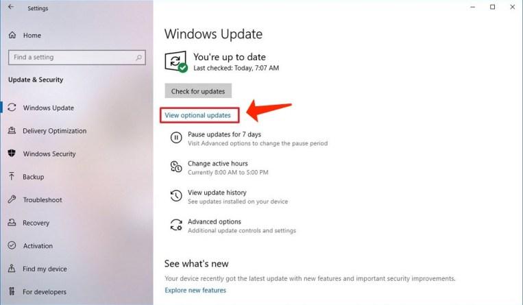 error 0x80244019 - installing optional updates