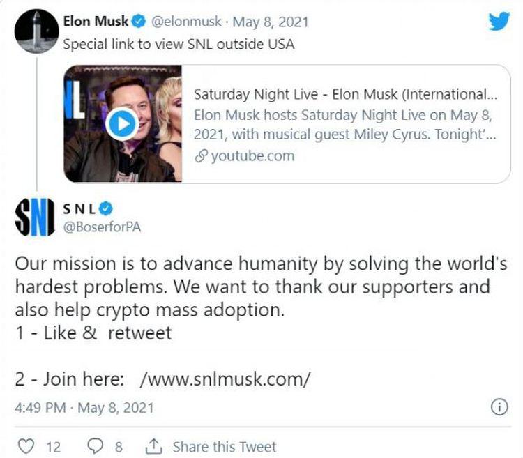 Fake SNL message