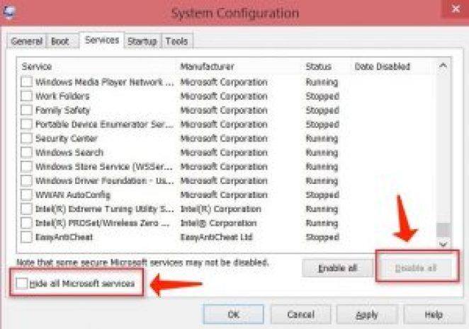 更新錯誤 0x80244019 - 隱藏所有微軟服務