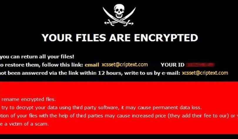 [xcsset@criptext.com].Xcss virus demanding message in a pop-up window