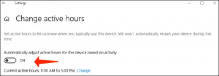 resolver problemas en Windows 10: deshabilitar los reinicios automáticos