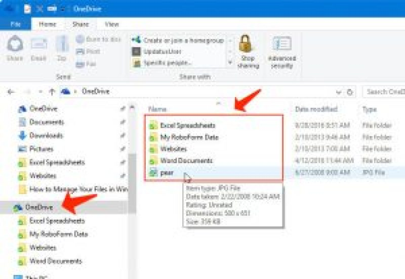 explorador de archivos - carpeta OneDrive