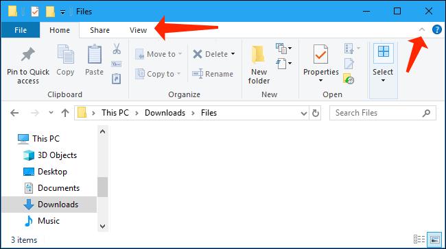 file explorer windows 10 - home tab