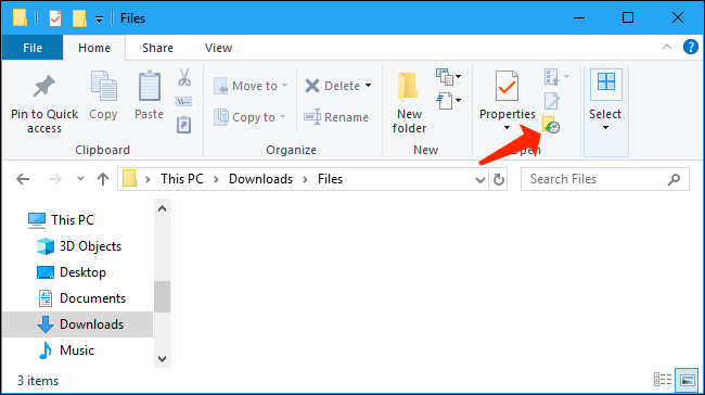 file explorer - restore files