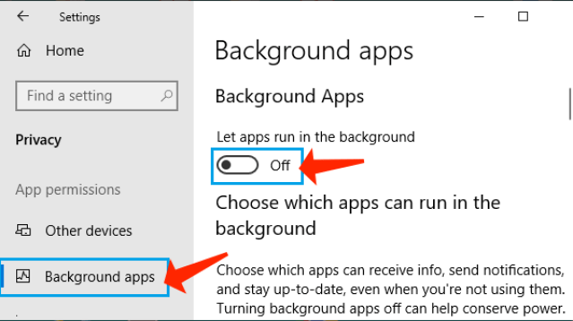 upload and download speeds - Switch Off background apps
