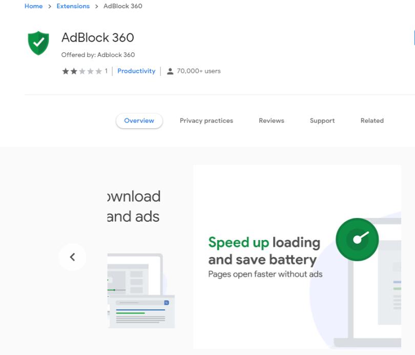 AdBlock 360 hijacker - Adblock-360.com