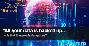 """""""All your data is backed up"""". What is that thing?"""