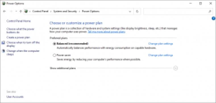 Windows10-電源プラン