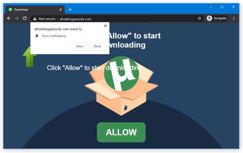 Wholehugewords push notification