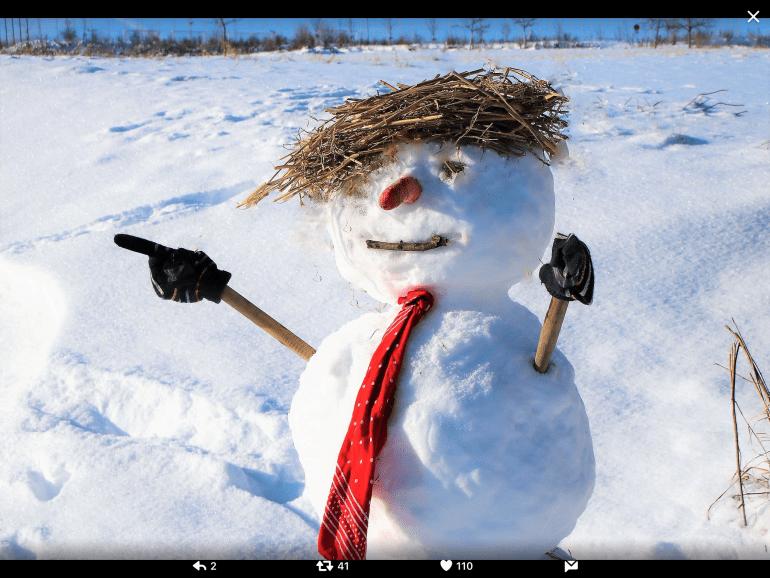 Trump's snowman