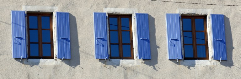 Exterior shutters in France