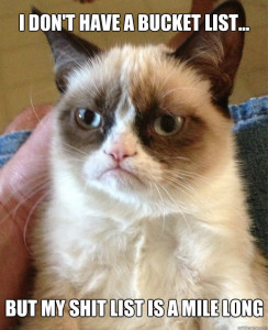 Grumpy Cat. Shit list. To do list. Productivity. Getting things done. GTD. Getting shit done.