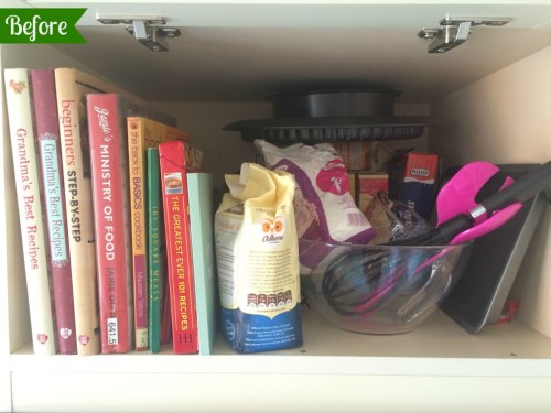 KonMari. Kitchen. Bakeware. Cookbooks.