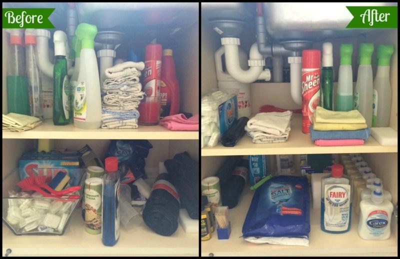 KonMari. Kitchen. Cleaners. Under the sink.