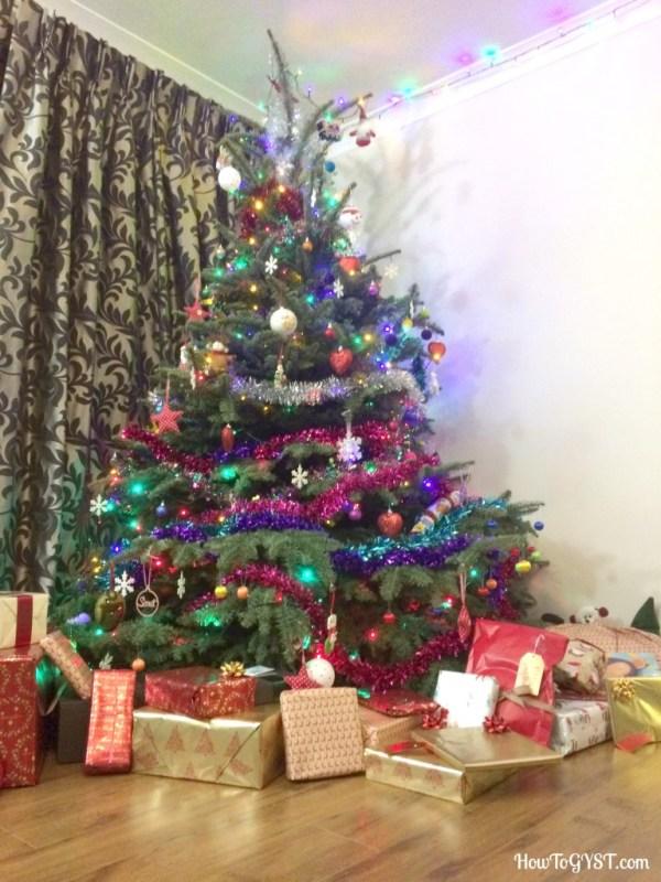 Completing the KonMari Method -- Christmas tree & presents
