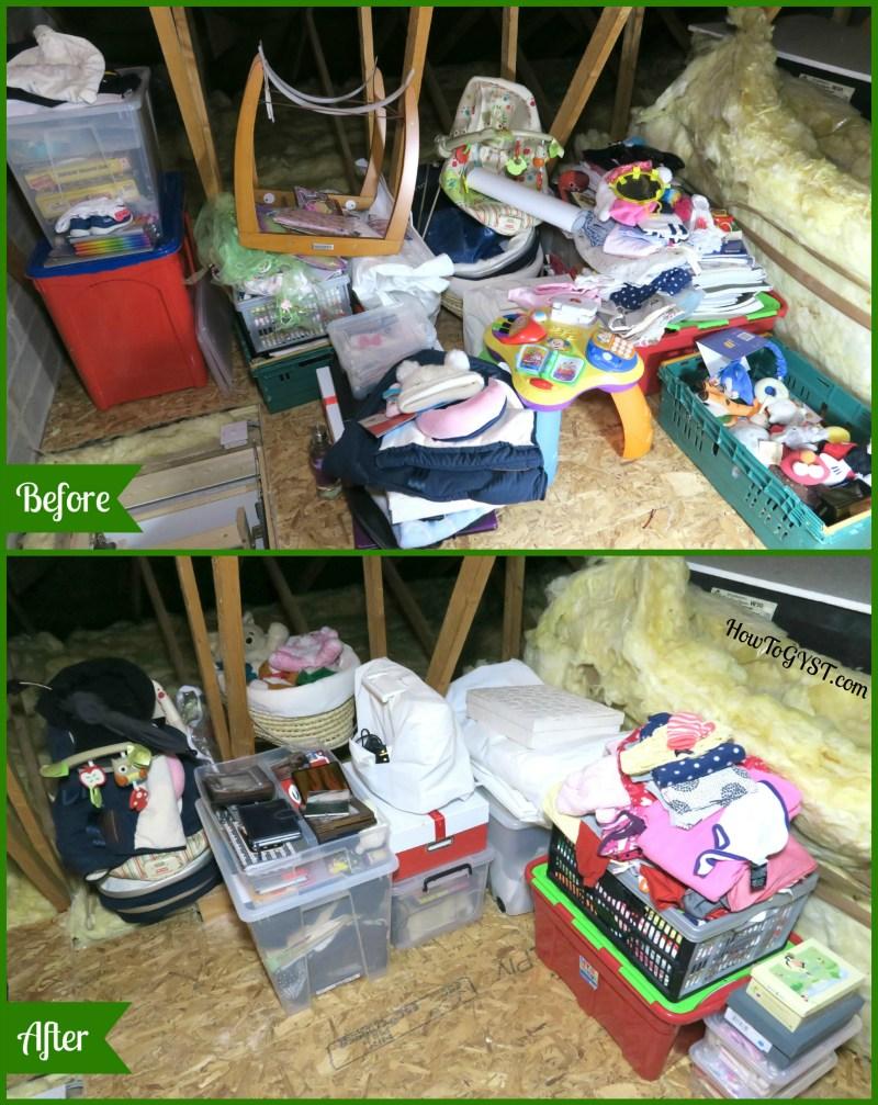 Declutter sentimental items – 'after'